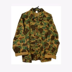 Vintage Camo Army Field Utility Jacket Large XL